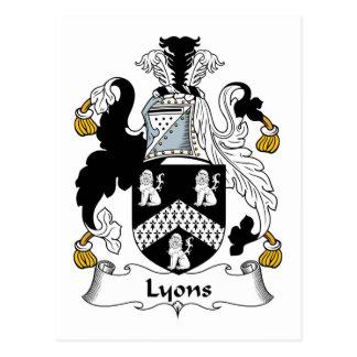 Lyons Family Crest Postcard