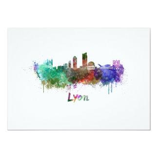 Lyons skyline in watercolor card