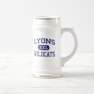 Lyons Wildcats Middle School Clinton Iowa Beer Stein