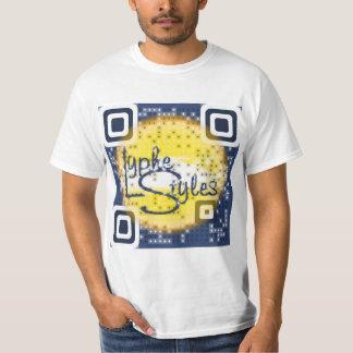 LypheStyles QR Code Logo Mens White T-Shirt