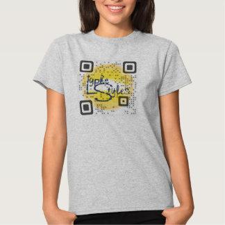 LypheStyles QR Code Logo Womens T-Shirt