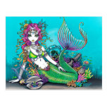 Lyra Gothic Mermaid Postcard