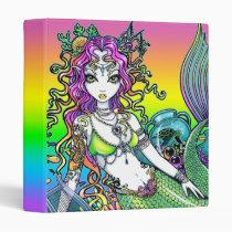 lyra, mermaid, koi, tattoo, siren, sea, turtle, fish, ocean, rainbow, shells, lyre, fantasy, fairy, faery, faerie, fae, fairies, art, myka, jelina, mika, mermen, mermaids, Fichário com design gráfico personalizado