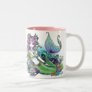 """""""Lyra"""" Rainbow Sea Scape Mermaid Art Mug"""