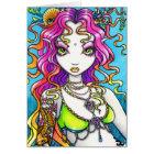 Lyra Shimmering Rainbow Koi Tattoo Mermaid Card