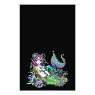 """""""Lyra"""" Tropical Mermaid Art Gel Pen Stationery"""