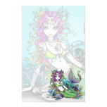 """Lyra"" Tropical Mermaid Art Stationery"