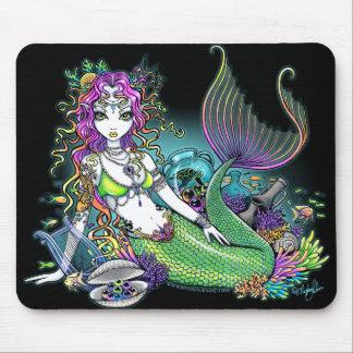 """Lyra"" Tropical Rainbow Mermaid Art Mousepad"