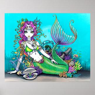 Lyra Tropical Rainbow Mermaid Poster