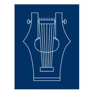 Lyre (lyra) - instrumento del griego clásico postal