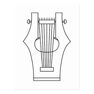 Lyre (lyra) - instrumento del griego clásico postales