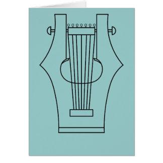 Lyre (lyra) - instrumento del griego clásico tarjeta de felicitación