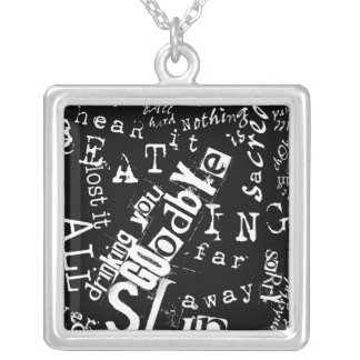lyric fusion. trouble breathing. silver plated necklace