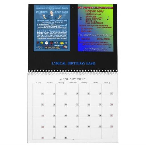 LYRICAL 2008 Calendar