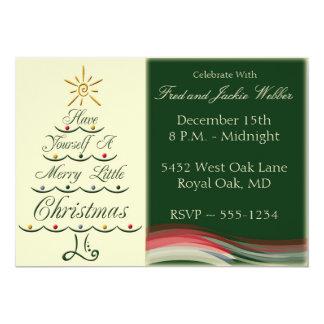 Lyrical Christmas Tree Party Invitation
