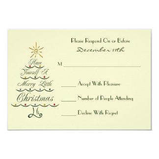 Lyrical Christmas Tree RSVP Card