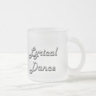 Lyrical Dance Classic Retro Design 10 Oz Frosted Glass Coffee Mug