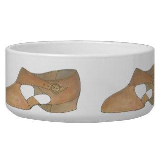 Lyrical Tan Modern Dance Dog Teacher Shoe Bowl