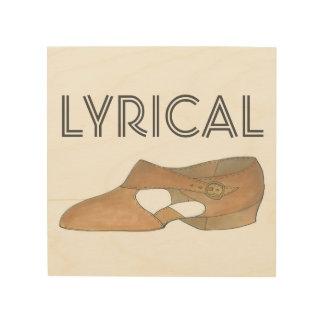 Lyrical Tan Modern Dance Teacher Shoe Decor