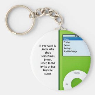 Lyrics to Her Life Keychain