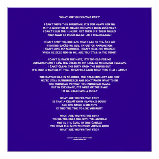"Lyrics to ""What are You waiting for?"" Poster"