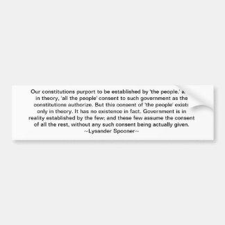 Lysander Spooner Bumper Sticker