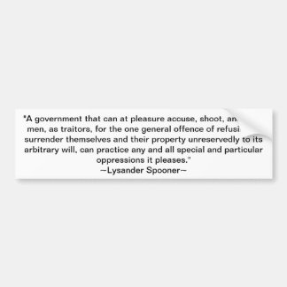 Lysander Spooner Pegatina De Parachoque