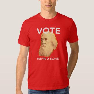 Lysander Spooner No masters No Slaves T-shirts