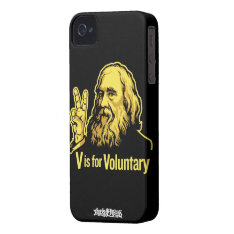 Lysander Spooner V Is For Voluntary Iphone 4/4s Ca Iphone 4 Cover at Zazzle
