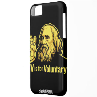 Lysander Spooner V is for Voluntary iPhone 5 Ca Case For iPhone 5C