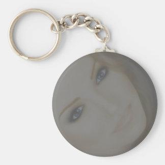Lyssa Basic Round Button Keychain
