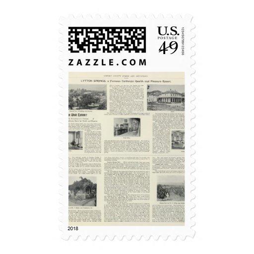 Lytton Springs, California Postage Stamp