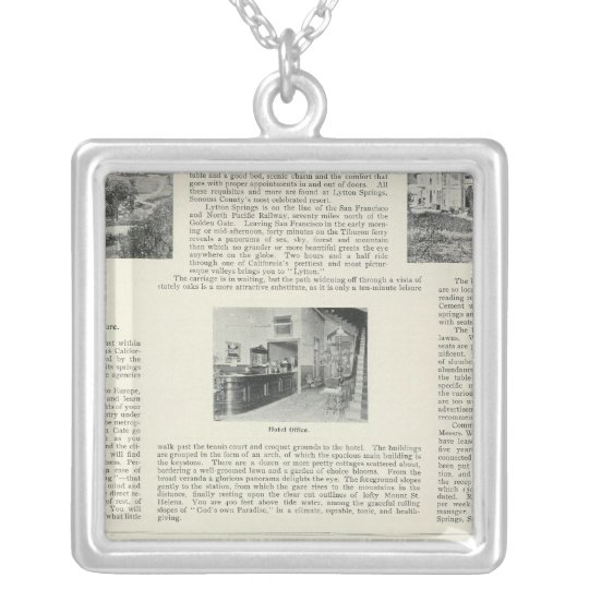 Lytton Springs, California Silver Plated Necklace