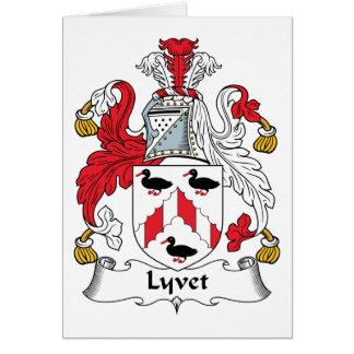 Lyvet Family Crest Card