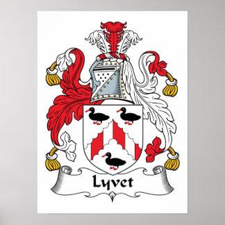 Lyvet Family Crest Posters