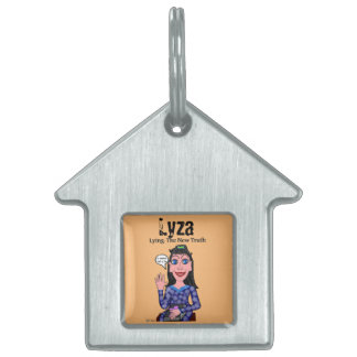 Lyza is Lying: The New Truth Pet Name Tag