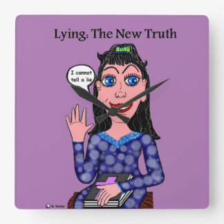 Lyza is Lying: The New Truth Square Wall Clock