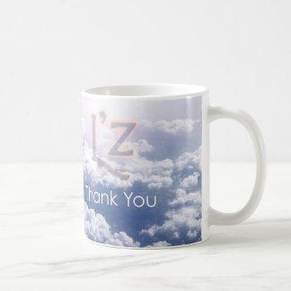 "L'z ""gracias"" taza de café clásica"
