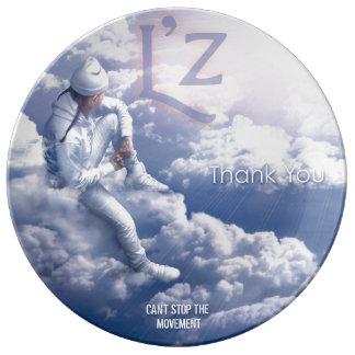 """L'z """"le agradece"""" 10,75"""" placa decorativa de la platos de cerámica"""