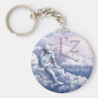 "L'z ""Thank You"" 2.25"" Basic Button Keychain"