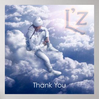"""L'z """"Thank You"""" 40"""" x 40"""" Poster"""