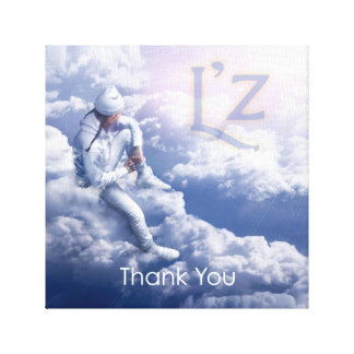 """L'z """"Thank You"""" Premium Wrap Canvas 12""""x12"""", 1.5"""""""