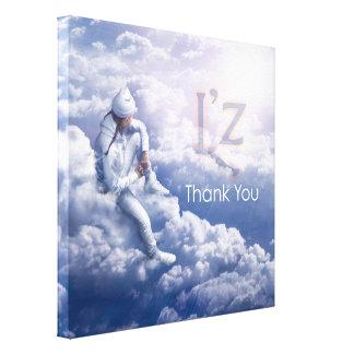 """L'z """"Thank You"""" Premium Wrap Canvas 24""""x24"""", 1.5"""""""