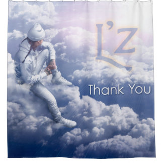 """L'z """"Thank You"""" Shower Curtain"""