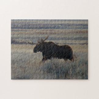 M0002 Bull Moose Jigsaw Puzzle
