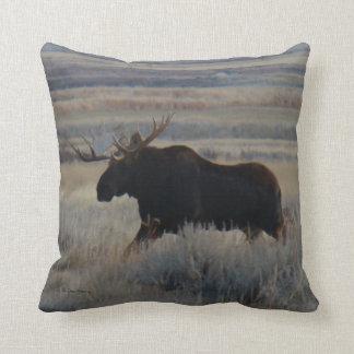 M0002 Bull Moose Throw Pillow