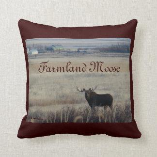 M0003 Bull Moose on Farmlands Pillows