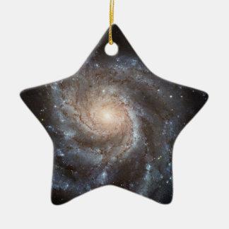 M101 Pinwheel Spiral Galaxy NASA Ceramic Ornament
