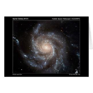 M101 Spiral Galaxy Card