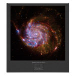 M101 Spiral Galaxy composite image poster